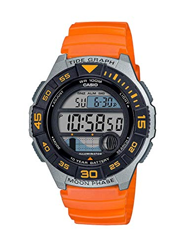 Casio Men's 10 Year Battery Quartz Resin Strap, Orange, 22.8 Casual Watch (Model: WS-1100H-4AVCF)
