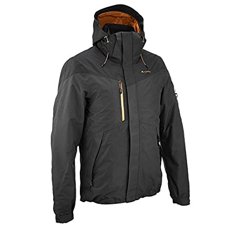 6d9f0aeee QUECHUA FORCLAZ 200 RAIN MEN S WATERPROOF 3 IN 1 JACKET - BLACK (XL ...