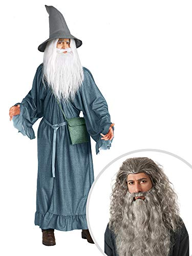 Lord of The Rings Gandalf Costume Kit Adult with Gandalf Beard ()