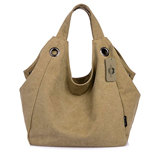 KISS-GOLDTM-Womens-Simple-Style-Vintage-Canvas-Totes-Hobo-Bag