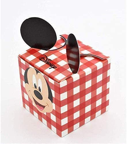 LE GEMME DI VENEZIA 25 - Caja para bombonera, diseño de Mickey Mouse, Color Rojo: Amazon.es: Hogar