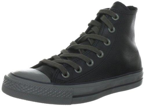 Converse All 132098c Cuir Star Unisexe - Baskets Erwachsene Schwarz (noir)