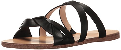 n's Scarlett Flat Sandal, Black, 7.5 M US (Bass Womens Sleek)