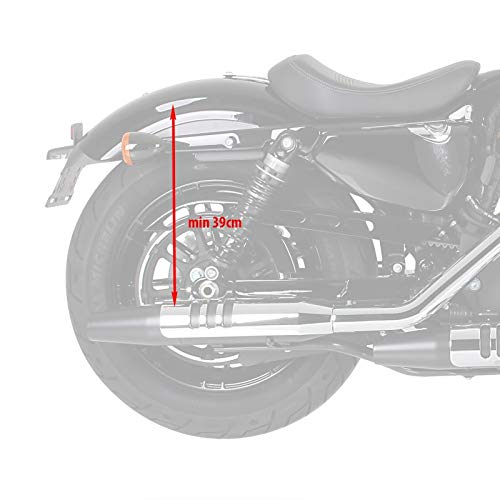 Alforjas Moto Custom para Harley Davidson Cross Bones Craftride Kentucky 30l marr/ón