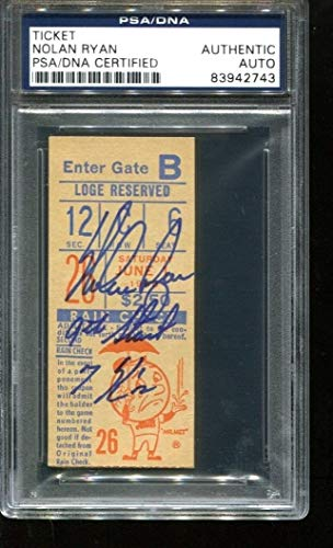 Nolan Ryan Autographed Signed Ticket 9Th Start 7K 6/1/68 Autographed Signed Shea PSA/DNA Authentic 2744
