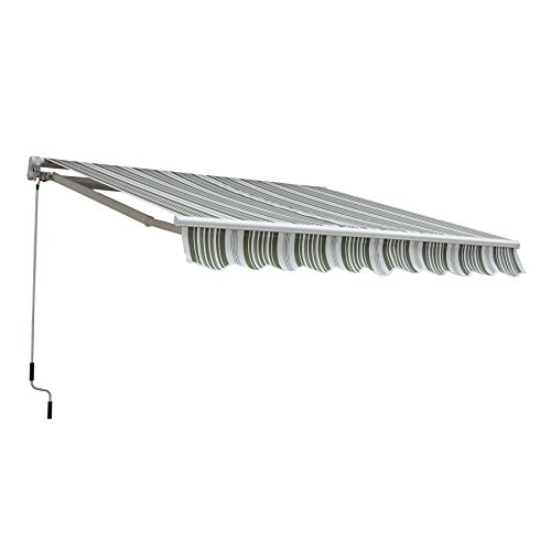 CO-Z Manual Patio Shade Retractable Deck Awning Sun Shade Shelter Canopy (13' x 8')