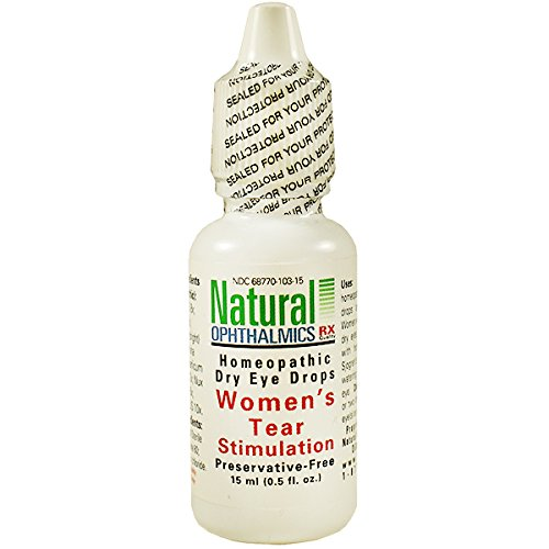 Natural Ophthalmics Women's Tear Stimulation Eye Drops, 0.5 Ounce
