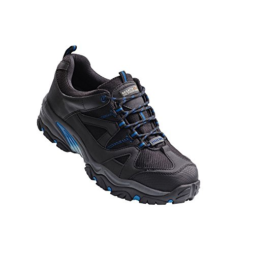 Regatta Professional Mens Riverbeck Steel Toe Safety Trainers Shoes Black/Oxford Blue