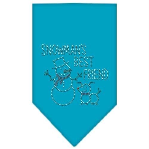 Mirage Pet Products Snowman's Best Friend Rhinestone Bandana, Small, Turquoise (Snowmans Best Friend Rhinestone)