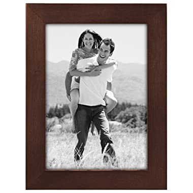 Malden International Designs Linear Classic Wood Picture Frame, Holds 5x7 Picture, Walnut
