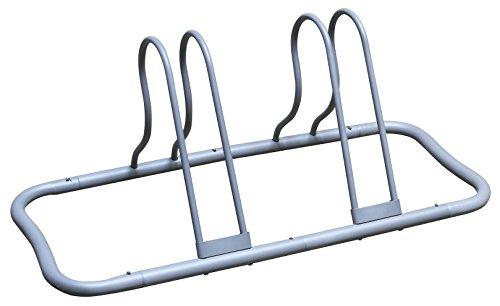 DecoBros 5 Bike Bicycle Floor Parking Adjustable Rack Storage Stand, Silver by Deco Brothers (Image #4)