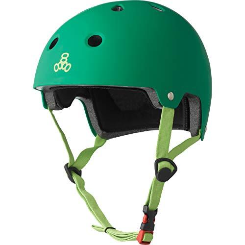 Triple Eight Dual Certified Bike and Skateboard Helmet, Kelly Green Matte, X-Small / Small