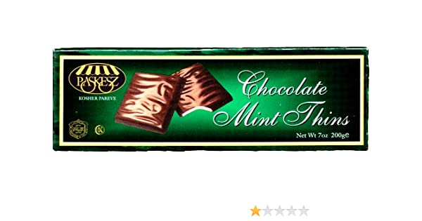 Paskesz Chocolate Mint Thins, 7-Ounce Boxes (Pack of 4): Amazon.com: Grocery & Gourmet Food