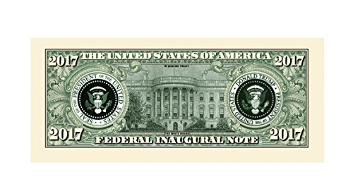 Large Product Image of Set of 5 - Donald Trump 2017 Federal Inaugural Presidential Dollar Bill Limited Edition