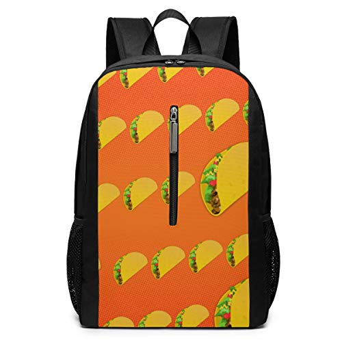 Taco Quest Backpack 17 Inch Suitable For School And Outdoor Use-Personality, Fashion