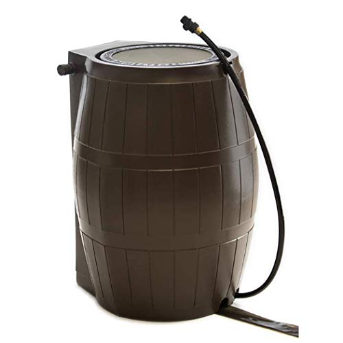 (FCMP Outdoor RC4000-BRN Catcher 4000 Rain Barrel, Brown)