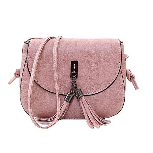 5x14cm de de 5x5 de Bolso Pink 18 Borla Pink del Cruzado Mujeres los Bolsos la Bolso del Mujeres de Las Mensajero Las 5wfPqgHR