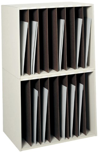 Safco Products 3030 Art Storage Rack, 8 Vertical Compartments, ()
