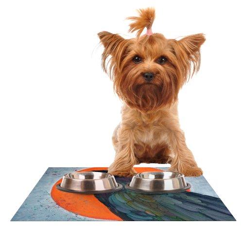 KESS InHouse Lydia Martin Raven Sun  Feeding Mat for Pet Bowl, 24 by 15-Inch