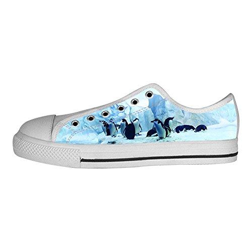 Custom Pinguin Mens Canvas shoes Schuhe Lace-up High-top Sneakers Segeltuchschuhe Leinwand-Schuh-Turnschuhe E