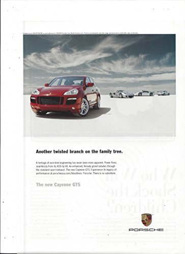 MAGAZINE ADVERTISEMENT For 2008 Red Porsche Cayenne Another Twisted Branch