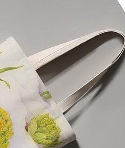 Japanischer Art-Blumen-Illustrator Leinentasche Reise-Einkaufstasche Ein Topf der Blume