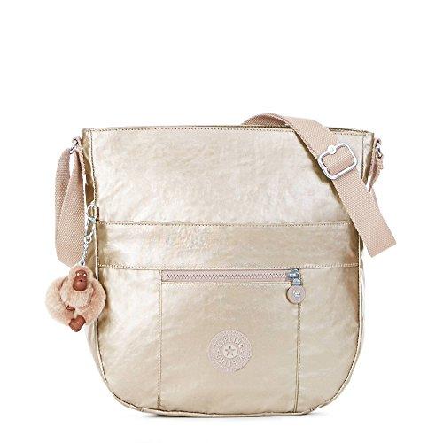 Kipling Women's Bailey Metallic Saddle Bag Handbag One Size Sparkly Gold by Kipling