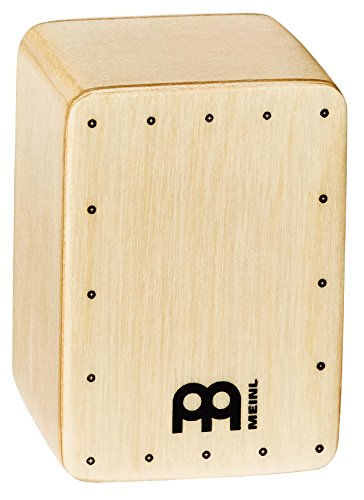 Meinl Percussion Mini Cajon Shaker Front Plate-NOT Made in China-Baltic Birch Body, 2-Year Warranty, Natural (SH50)