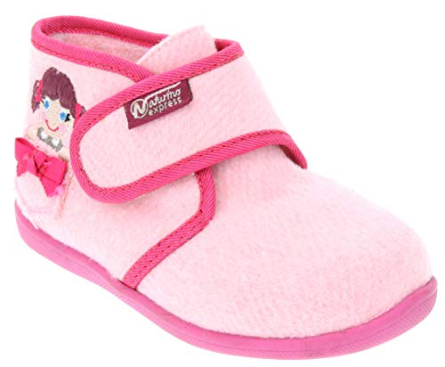 Naturino Express Kids Bambola Girls Single Strap Shoe High Top Fashion Sneaker Boot Chukka Pink 7 Toddler