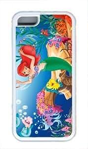 Lmf DIY phone caseThe little Mermaid Customized rubber material TPU iphone 5c white CaseLmf DIY phone case