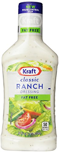 Kraft Free Ranch Fat Free Dressing, 16-Ounce Plastic Bottles (Pack of 6)