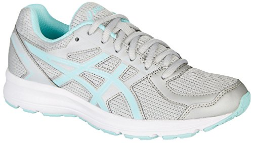 ASICS Women's T7K8N.9667 Jolt Running Shoes, Glacier Grey/Aqua Splash/White, 6.5