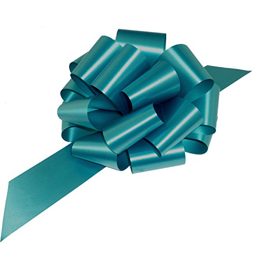 Large Teal Blue Pull Bows - 9