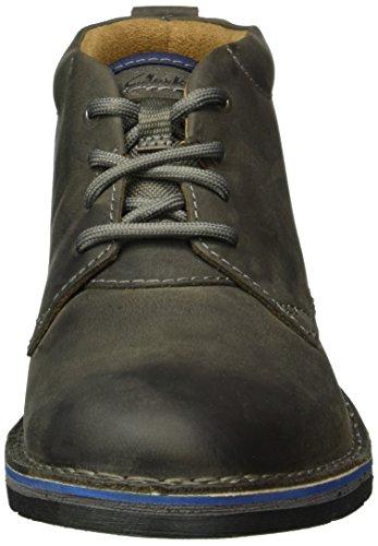 Clarks Herren Edgewick Mid Kurzschaft Stiefel Grau (Grey Nubuck)