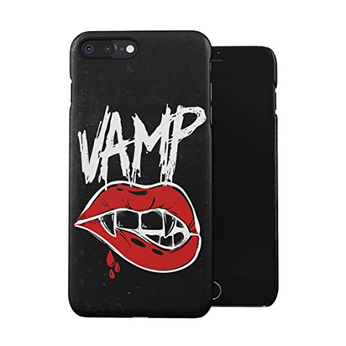 Grunge Vamp Sexy Bloody Girl Lips Plastic Phone Snap On Back Case Cover Shell For iPhone 7 Plus & iPhone 8 Plus