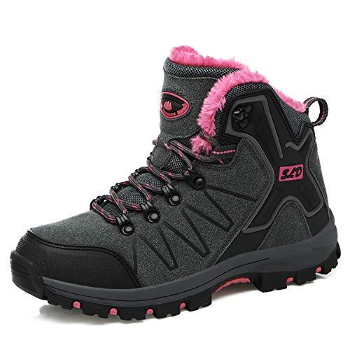 Homme Mountain De Chaussures Rose Gris Pour Femme Imperméable Randonnée Bottes Montantes Z Tqgold® Marche wZAOnx