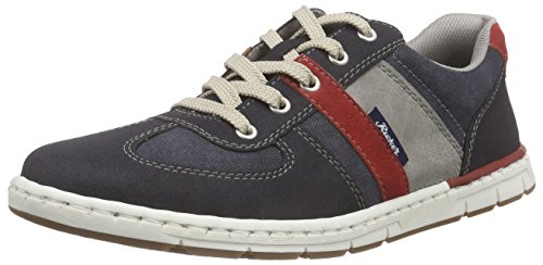 Rieker 18920 Sneakers-Men Herren Low-Top Blau (navy/navy/fire/staub / 15)