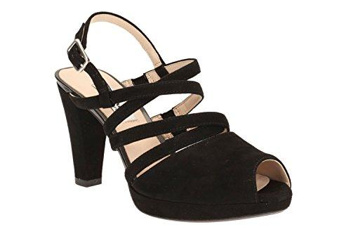 Clarks Des Femmes Des Kendra Sandales En Daim Modernes Fraîches Élégantes En Noir