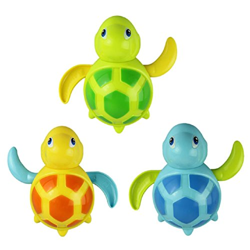 Lookatool® New born babies swim turtle wound-up chain small animal bath toy classic toys
