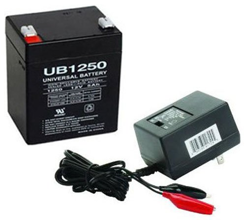 (UPG UB1250 12V 5AH SLA BATTERY COMBO WITH CHARGER)