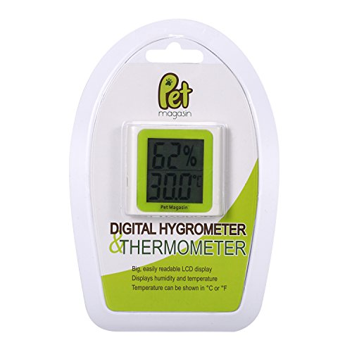 Pet Magasin Digital Thermometer and Hygrometer [Battery Included] for Terrariums and Aquariums of by Pet Magasin