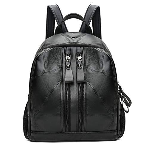 Female Bags Backpack Black School Travel Leather Sheepskin Women Backpacks Shoulder 8nWqUEC