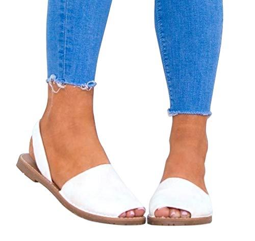 Plate Mode Plage Chaussures De Romaines Grande Blanc Été Poissons Élégant Sandales Femme Bouche Taille Flops Minetom Flip Daim Tongs q0YIwzHn