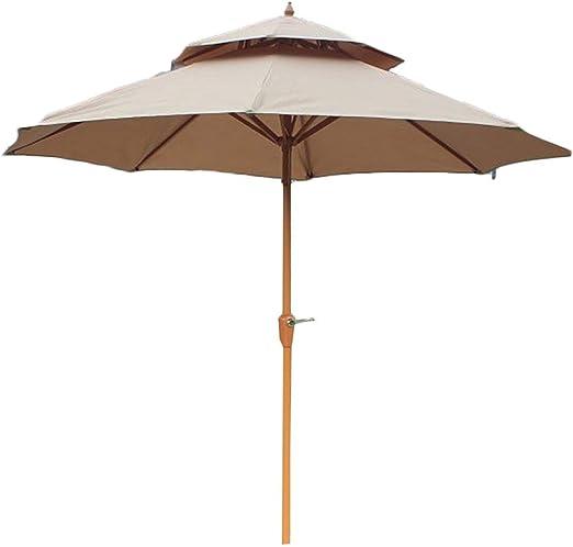 Parasol Jardin Sombrillas Terraza Playa Sombrilla de Cubierta de Césped con Manivela, Toldo de Sombra de