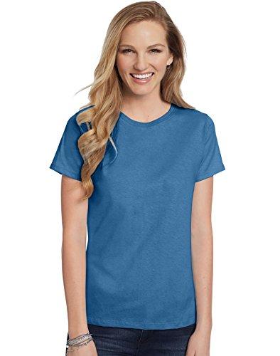 (Hanes Women's Relaxed Fit Jersey ComfortSoft Crewneck T-Shirt_Denim)