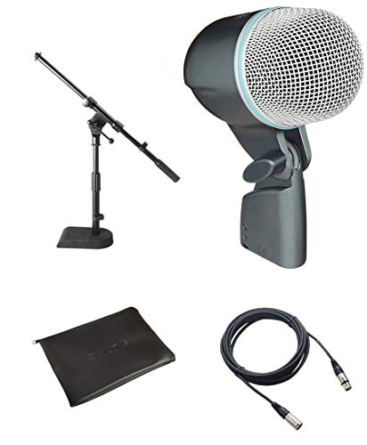 Shure BETA 52A Dynamic Kick Drum Microphone w/FREE Microphone Cable and Mini Boom Stand
