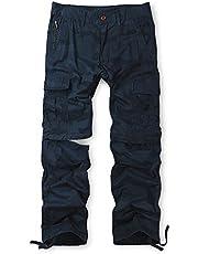 Men's Zip Off Cotton Convertible Pants Durable Cargo Shorts Trousers