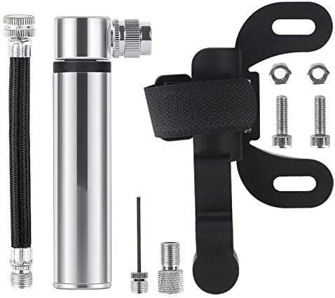 9.7x3.5cm Pompe /à v/élo haute pression portable for VTT Route v/élo Presta//Schrader Robinet de valve de basket Inflateur Mini en aluminium 120psi /à v/élo XFC-Caps Couleur : Noir