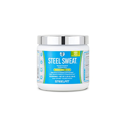 SteelFit, Steel Sweat Metabolic Catalyst + Energy, Helps Increase Fat Oxidation and Perspiration, 30 Servings (Green Apple)