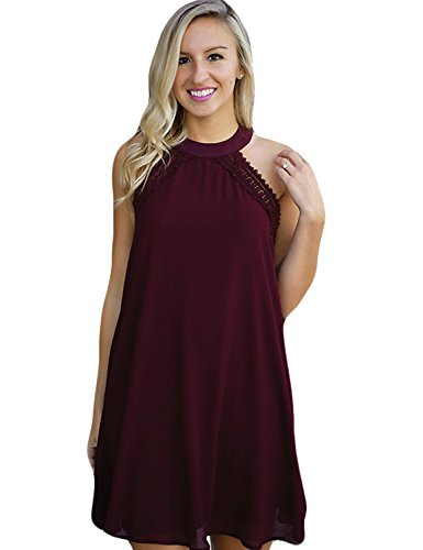 Blooming Jelly Women's Halter Sleeveless Hot Shift Dress,Large,Purple (What To Wear To 80s Party)